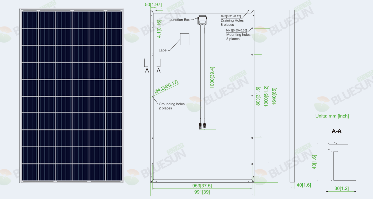 polycrystalline 270w solar panel for home
