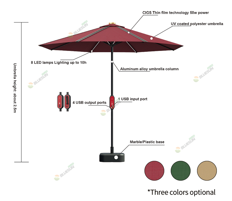 beach solar umbrella