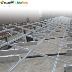 Flat Roof Ballasted Solar Panel Racking Structure For Pv Panels