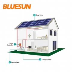 6KW off-grid solar power system 6000w solar system with battery