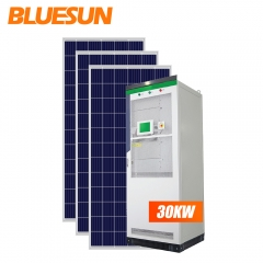 Bluesun Off Grid Solar System 30KW Solar System Power Hybrid Solar Energy System Home