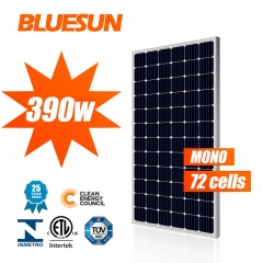 High efficiency 48v monocrystalline flexible solar panel 390w 390 watt mono solar PV panel europe warehouse